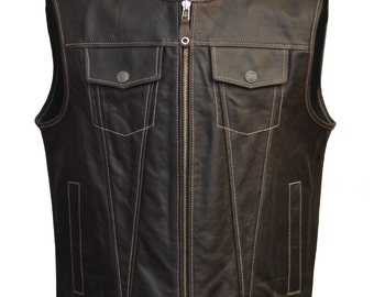 Leather vest, Fashion Racing, made to measure, motorbike vests, motorcycle vest, motorcycle vests, custom vest