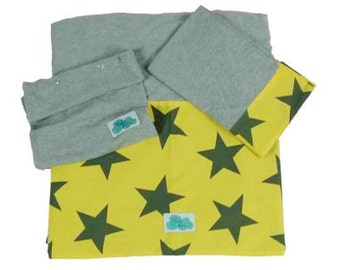 Bed sheet for bed. Yellow Star