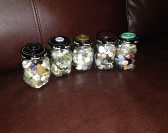 Jars of buttons sold individually