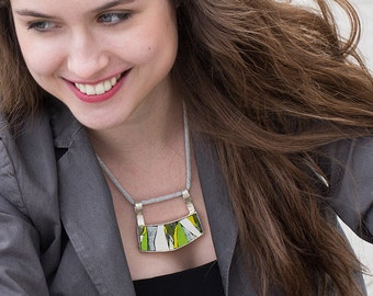 Modern Fashion Necklace, One of a Kind Exclusive Design, Made in Italy