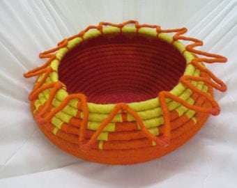 """Large Coiled Basket """"Indian Sun"""""""