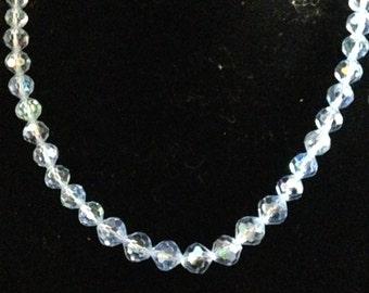 Baby Bue Crystal Necklace