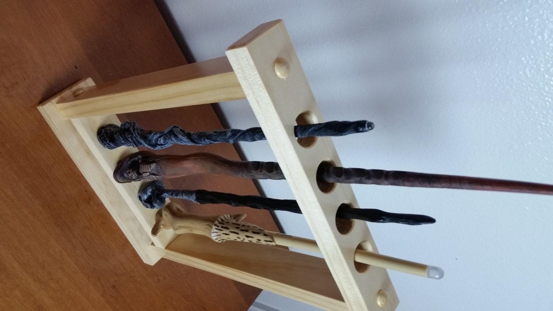 wand display magic wand holder holds 4 sticks self. Black Bedroom Furniture Sets. Home Design Ideas