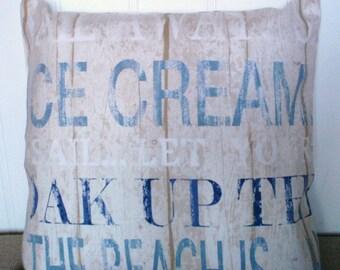 Beach pillow cover Beach cushion cover Seaside pillow cover Boardwalk harbour pillow cover