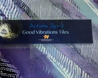 Northcott Artisan Spirit Good Vibrations 10 Inch tiles TVIBRA42-10