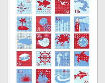 Nautical Alphabet Print