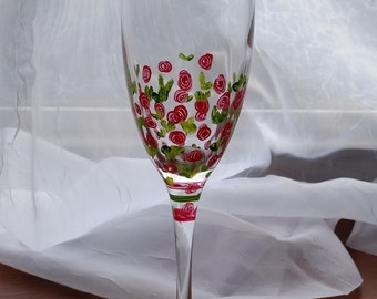 Painted Chamagne Flutes- Sold in Pairs