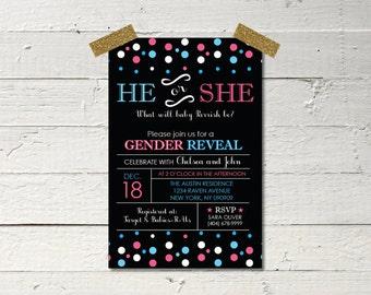 Customizable Digital Gender Reveal Invitation Printable