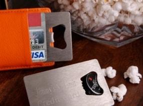 Personalized Credit Card Bottle Opener Groomsmen Gift - Best Man Gift - Valentine's Day Gift