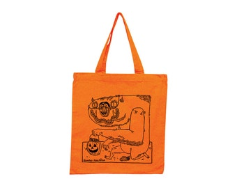 That Monster stole my candy! Screenprinted Tote- Limited Edition