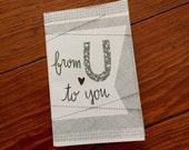Mini zine: From U to You