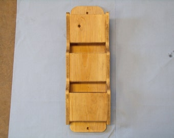Wooden Wall Mail Holder