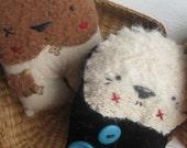 Folk art Rag Animal Dolls Playset