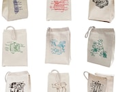 Custom Lunchbags, 100 customized lunchbags, party favor, promotional gift, custom bulk bags, ecofriendly, cotton lunchbag