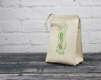 Chicago Hot Dog lunch bag - eco-friendly recycled cotton lunch bag - reusable lunchbag - Chicago lunch sack - Chicago gifts stocking stuffer