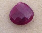 SALE!! Huge super large focal gemstone faceted genuine ruby briolette destash!