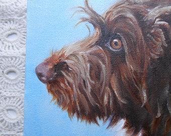 Custom Pet Portrait  - Dog Portrait  -  Oil Painting  - Custom Cat Portrait  - Paint my dog - Artist Robin Zebley