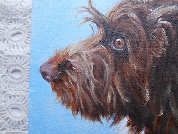 Mini Pet Portrait Oil Painting by Artist Robin Zebley