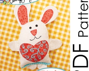 Little Love Bunny Soft Toy Sewing Pattern