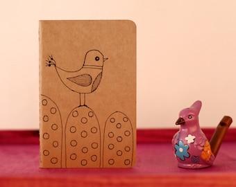 Moleskine Notebook Kraft Illustrated ~ Bird over the mountain