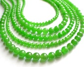 The Janelle- Bright Green Jade Statement Necklace