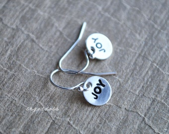 JOY all sterling silver teeny tiny earrings by srgoddess