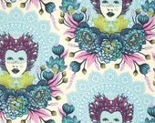16th Century Selfie in Sky / Elizabeth by Tula Pink / 1 Yard Cotton Quilt Apparel Fabric