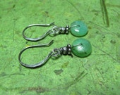 Sacred - Chrysoprase and Sterling Silver Earrings