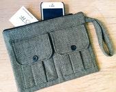 Cell Phone Wallet Wristlet, Smartphone Wristlet Wallet for Women, Black Wristlet Purse, Large Wristlet, Womens Wallet Purse, Wrist Wallet