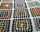 Sale! Multi/ White Queen Crochet Blanket