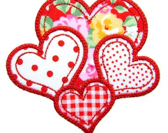 Valentine Applique, Heart Applique, Valentine Embroidery, Heart Embroidery, Valentine's Day, Machine Embroidery Heart, Instant Download