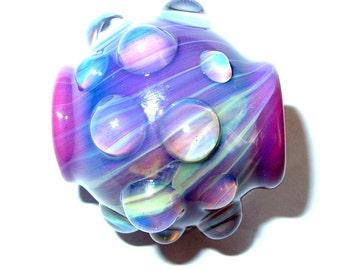 Glass focal or dreadlock bead - Fuschia Dream