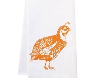 ORGANIC block print quail towel