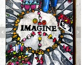 Imagine, Strawberry Fields, Central Park NYC, Coaster by PJ Cobbs New York Neighborhoods