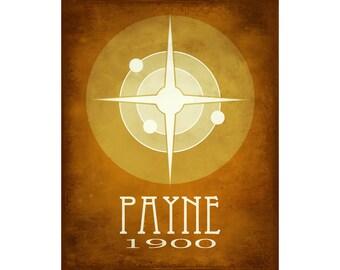Cecelia Payne 11x14 Science Art Print - Steampunk Science Poster, Scientist Decor, Star Illustration, Educational Art, Stellar Design