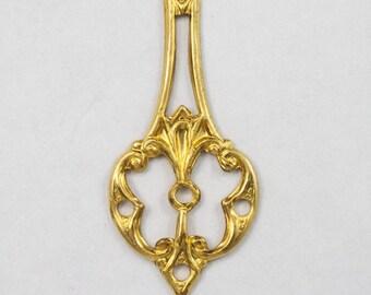 35mm Brass Chandelier Drop (4 Pcs)  #2952