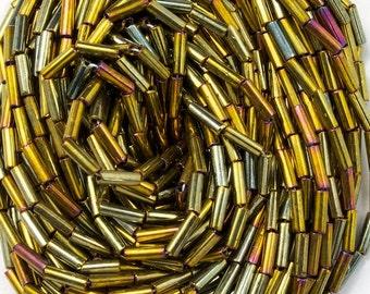 Size 3 Metallic Gold Iris Bugle (Hank) #CBC027