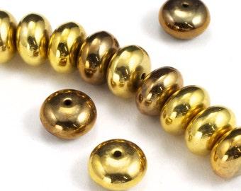 9mm Antique Gold Rondelle (12 Pcs) #3174