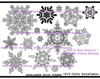 Celtic Snowflakes Unmounted Rubber Stamp Set Brand New Designs Shamrock Thistle Claddagh