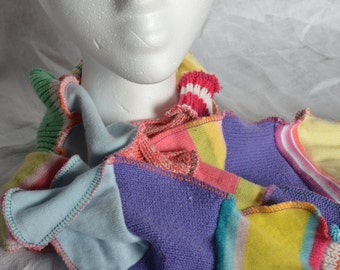 OOAK  upcycled sweater scarf
