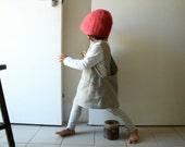 CHILDRENS LINEN PINAFORE - cross back / linen smock / boy / girl / eco / natural / linen apron / linen dress / etsy australia / pamelatang