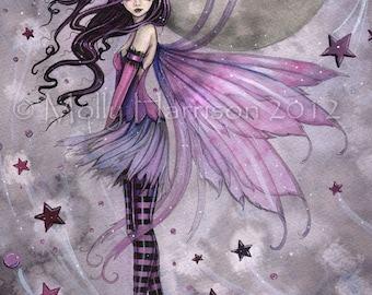 Purple Passion Fairy -  9 x 12 Fine Art Giclee Print - Fantasy Art by Molly Harrison