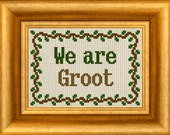 We Are Groot Cross Stitch PDF Pattern