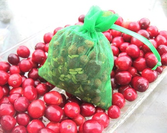 MiNi SACHETS little whiffs of natural scent CRANBERRY FENNEL for the holidays