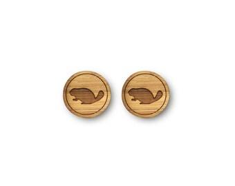 Mini Beaver Earrings. Beaver Earrings. Wood Earrings. Stud Earrings. Laser Cut Earrings. Bamboo Earrings. Gifts For Her. Gift For Women.