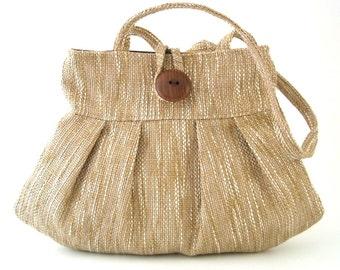 Tan handbag, beige bag, small tote bag, Tan bag, womens shoulder bag, handmade handbag, shoulder bag, shoulder handbag