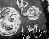 A Trip to the Moon ... Le Voyage dans la Lune by Georges Méliès ... art print for cool film geeks and other awesome folk