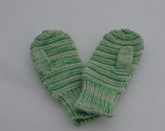 Double Mint Hand Knit Mittens