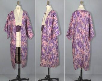 1940s / kimono / muslin / antique robe / DUTCH IRIS vintage kimono
