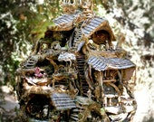 The Fairy Treehouse, Beautiful Creation from Nature, 5' tall, Exhibited at the American Visionary Art Museum, 1995 and 2012, print for 15